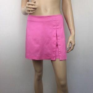 Cache Flat Front Side Slit Skorts in Pink Size: 2